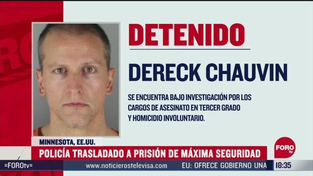 FOTO: trasladan a expolicia acusado de asesinar a floyd a prision de maxima seguridad