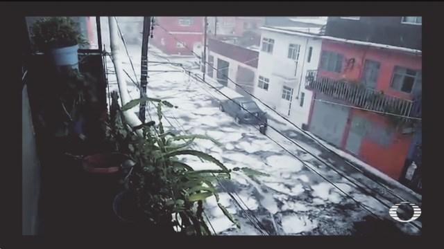 video tormenta con granizo azota morelia michoacan