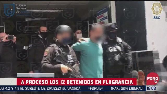 vinculan a procesos a 12 detenidos por ataque contra garcia harfuch