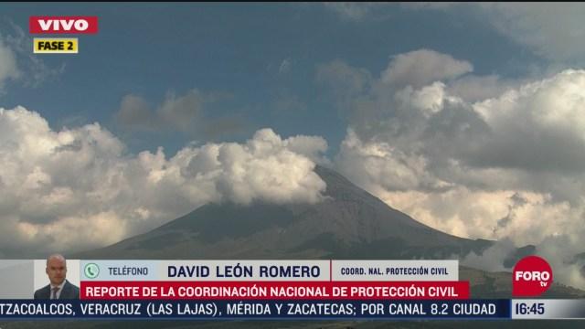 FOTO: volcan popocatepetl se mantiene activo con fumarolas