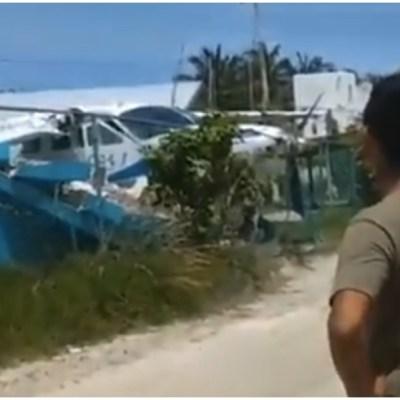 Se accidenta avioneta en la isla de Holbox, en Quintana Roo