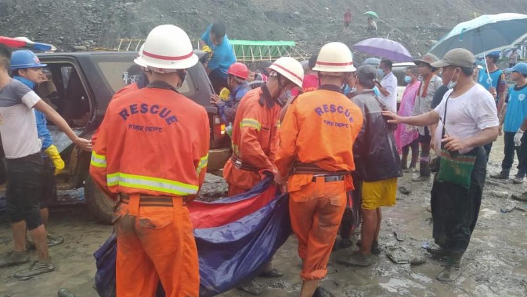 Accidente en mina de Birmania deja al menos 113 muertos