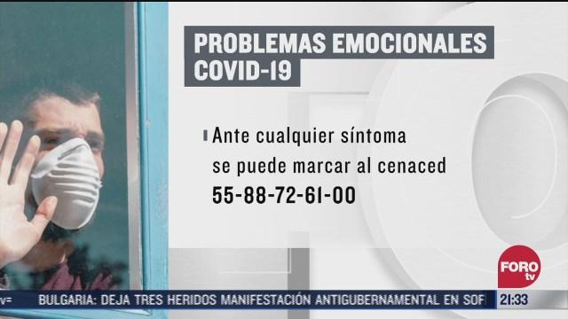 línea telefónica para atender problemas emocionales por Covid-19 en la CDMX