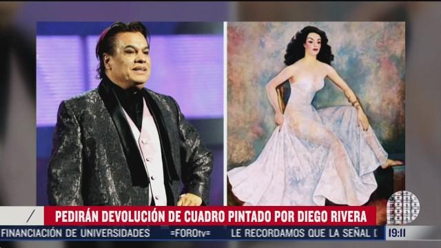 cuadro de Diego Rivera propiedad de Juan Gabriel y en poder de Cesar Duarte