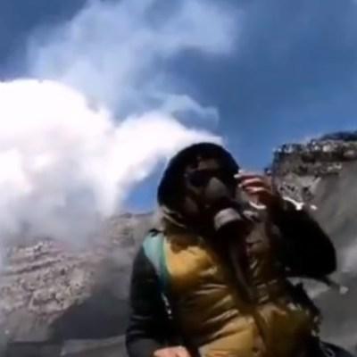 Video: Alpinista capta impresionantes imágenes del cráter del Popocatépetl