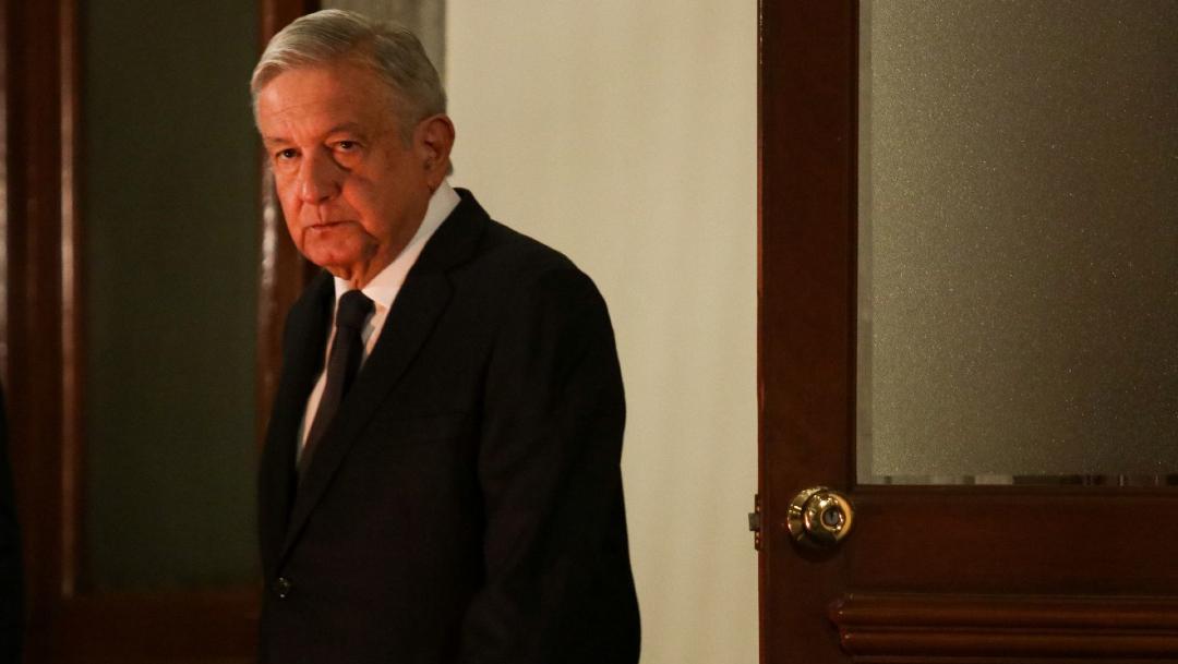 Andrés Manuel López Obrador, presidente de México, durante la conferencia de prensa matutina