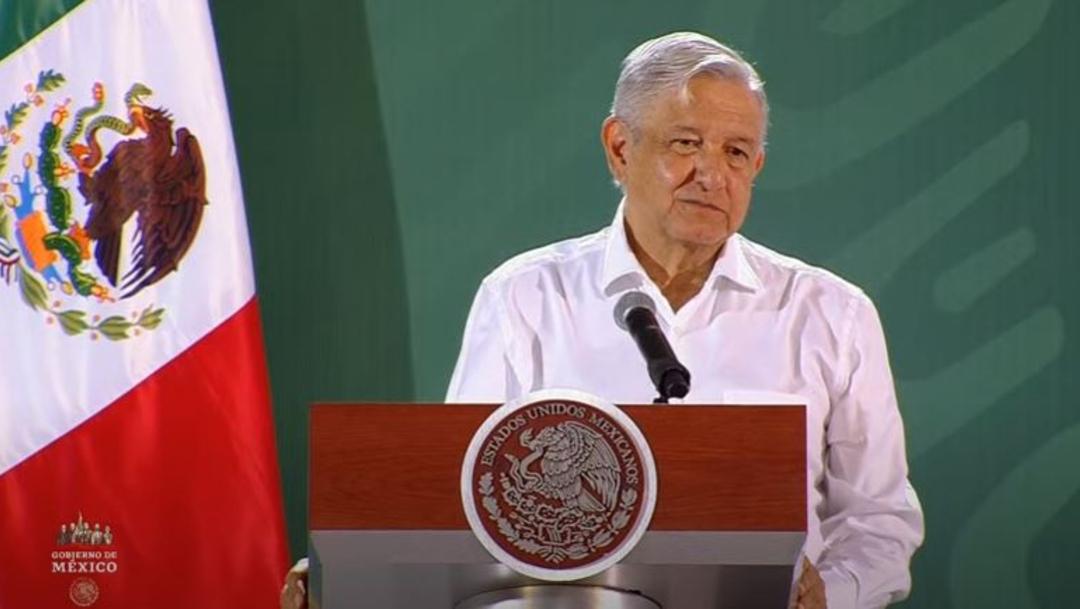 El presidente de México, Andrés Manuel López Obrador, en conferencia prensa matutina desde Colima