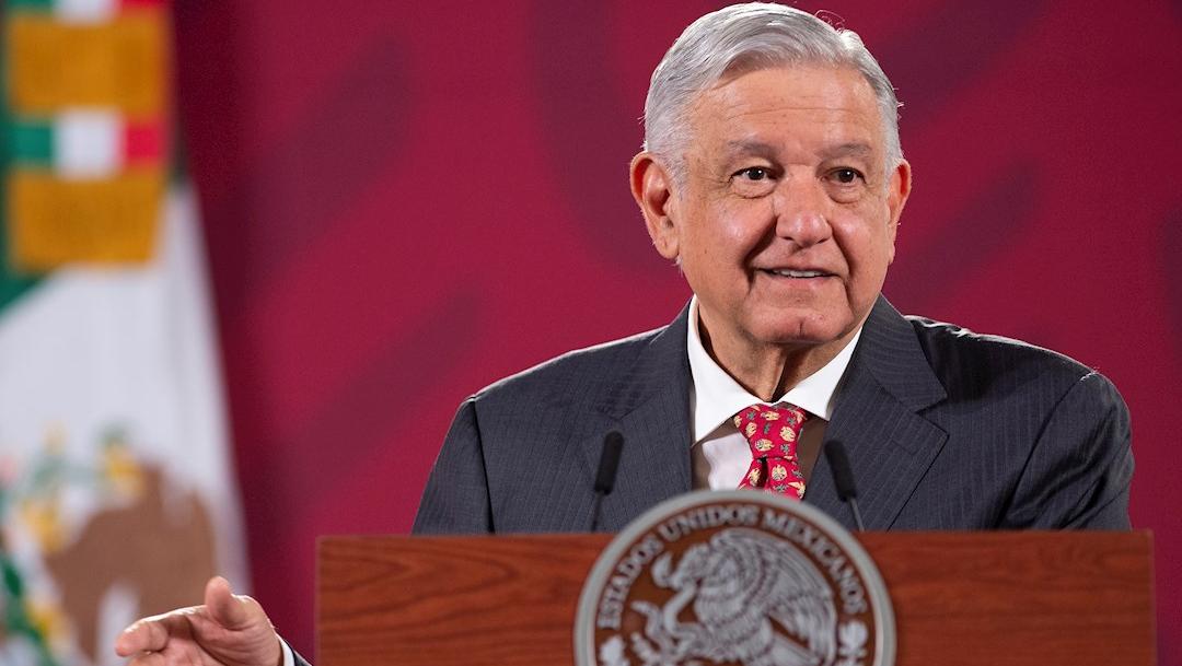 El mandatario mexicano, Andrés Manuel López Obrador, durante su rueda de prensa en el Palacio Nacional