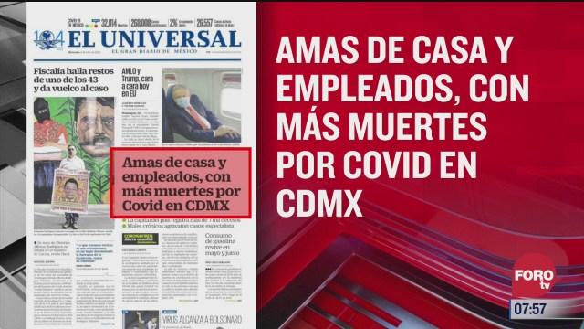 analisis de las portadas nacionales e internacionales del 8 de julio del