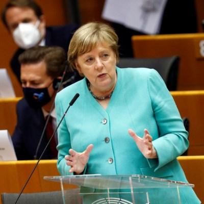 Angela Merkel, canciller alemana, en el Parlamento Europeo