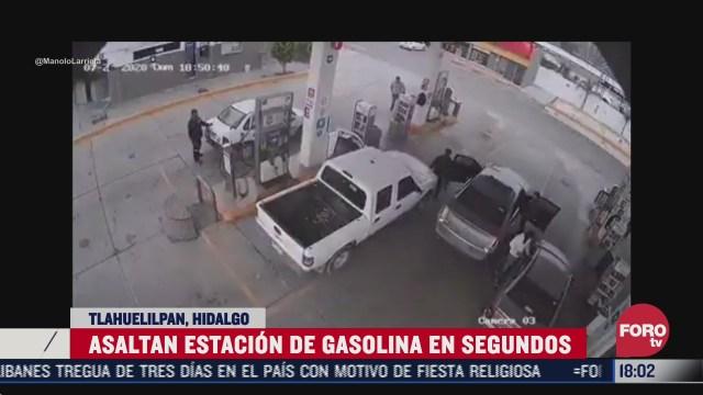 asaltan a trabajadores y clientes de gasolinera en hidalgo