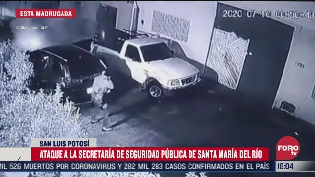 atacan instalaciones de la ssp de santa maria del rio slp