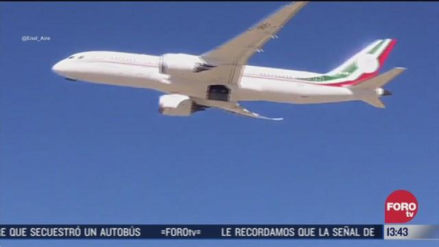 avion presidencial vuela rumbo a mexico