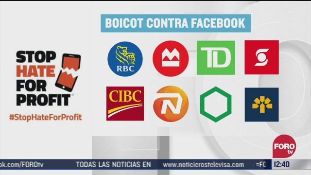bancos canadienses se suman a boicot contra facebook