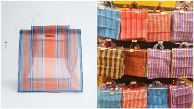 Bolsos de Zara, bolsas de mandado, ilustrativa