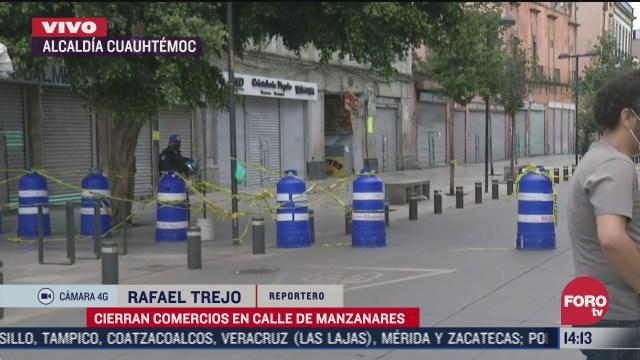 FOTO: 12 de julio 2020, calle de corregidora en el centro historico permanece cerrada para evitar aglomeraciones