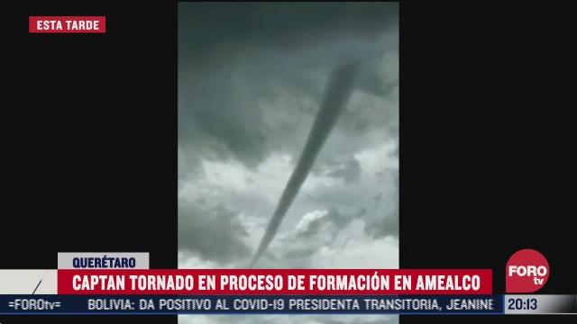 formación de posible tornado en Querétaro