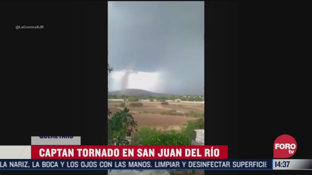 captan impresionante tornado en san juan del rio queretaro