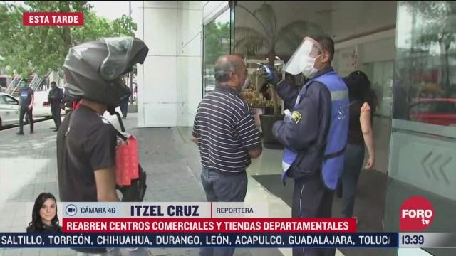 centros comerciales no cumplen medidas impuestas por el gobierno cdmx