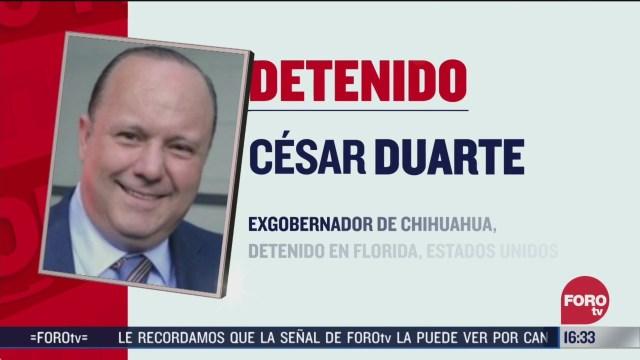 cesar duarte exgobernador de chihuahua fue detenido en estados unidos