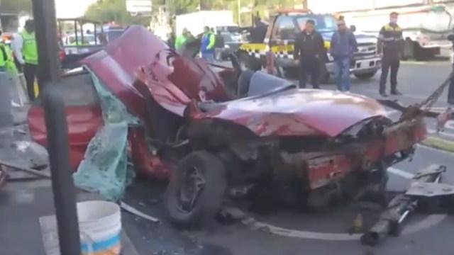 Choque automovilístico en Plaza Garibaldi, CDMX