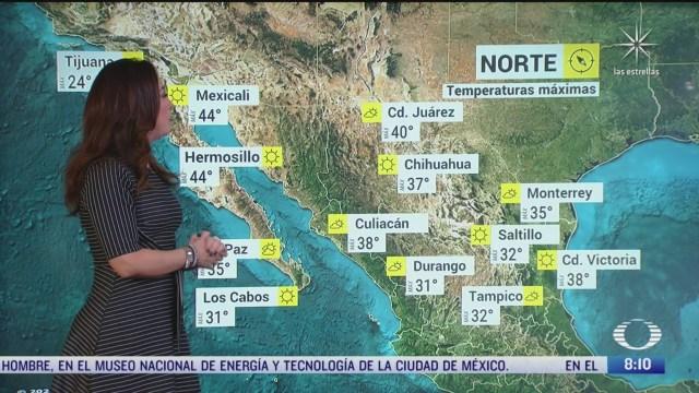 clima al aire canal de baja presion provocara lluvias en el noroeste norte y centro de mexico