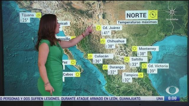 clima al aire canal de baja presion provocara lluvias en sonora chihuahua y durango