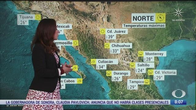 clima al aire preven lluvias y 24 grados centigrados en la cdmx