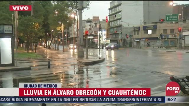 FOTO: 12 de julio 2020, comienza a llover en alcaldias cuauhtemoc y alvaro obregon en cdmx