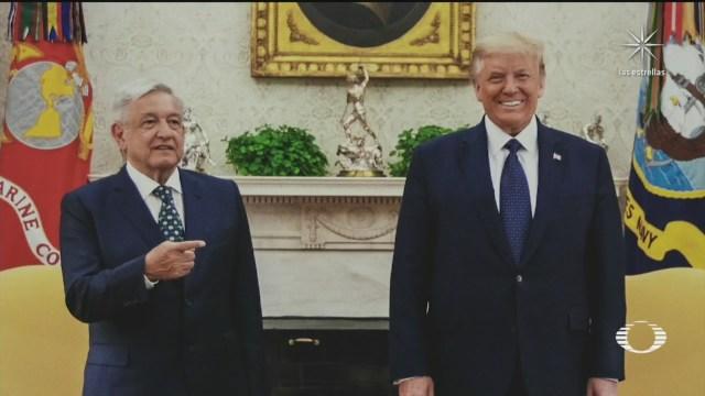 AMLO fue bien recibido en Washington por el presidente de Estados Unidos Donald Trump