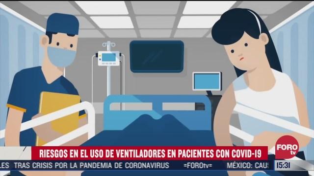 cuales son los riesgos del uso de ventiladores en pacientes con covid
