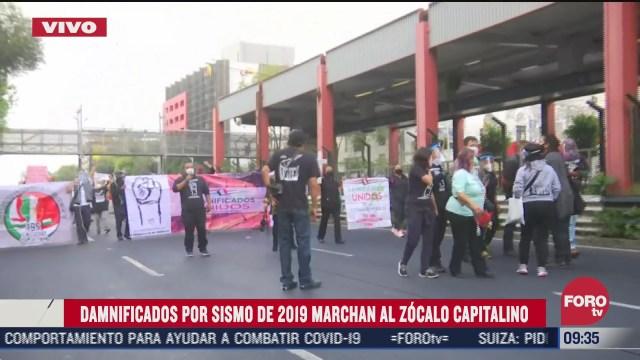 damnificados del sismo de 2017 marchan al zocalo cdmx