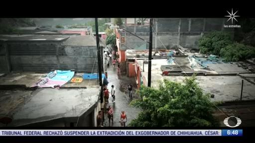 decenas de habitantes afectados por las lluvias de hanna en monterrey