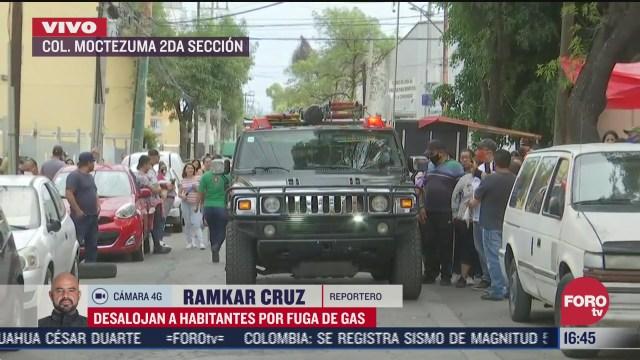 desalojan a habitantes en colonia moctezuma cdmx por fuga de gas