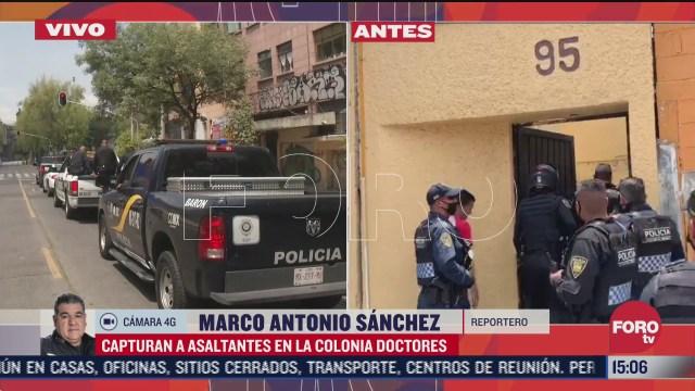 detienen a presuntos delincuentes tras asaltar a cuentahabiente en cdmx