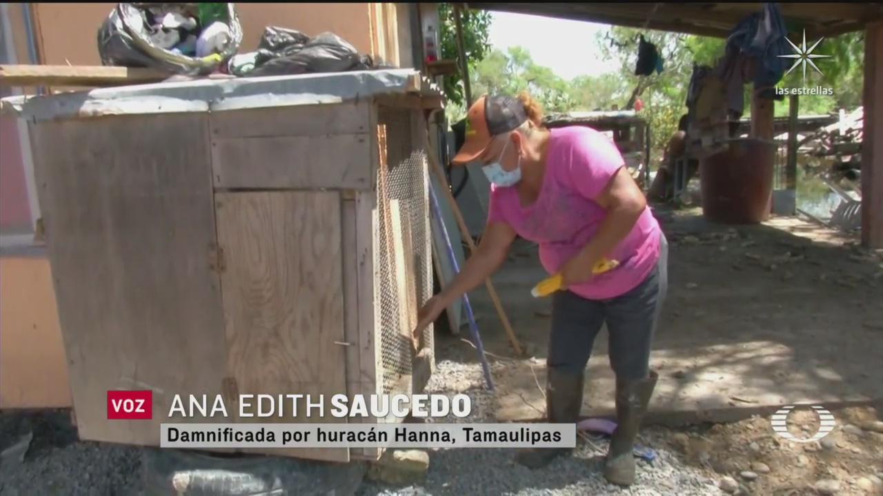 la señora de los tamales en Reynosa afectada por las lluvias de la tormenta Hanna