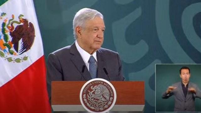 El presidente López Obrador en conferencia matutina desde Guanajuato
