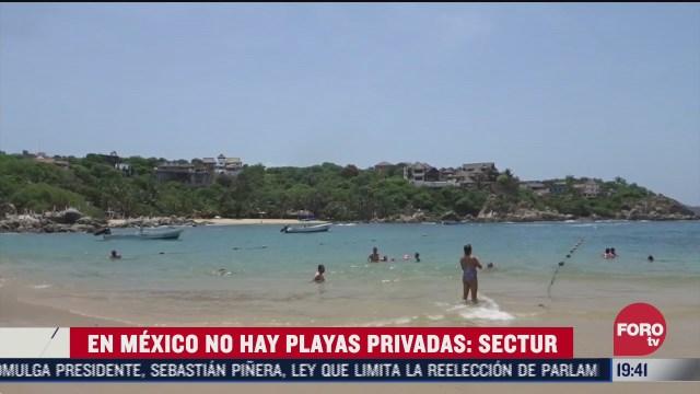 Secretaria de turismo anuncia que no hay playas privadas en México