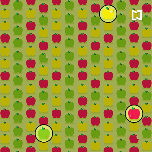 Respuesta para encontrar las 3 manzanas con gusano
