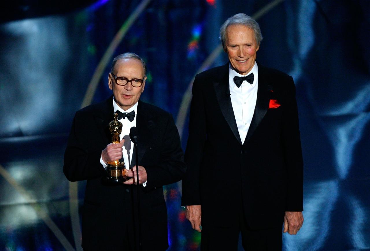 Ennio Morricone y Clint Eastwood