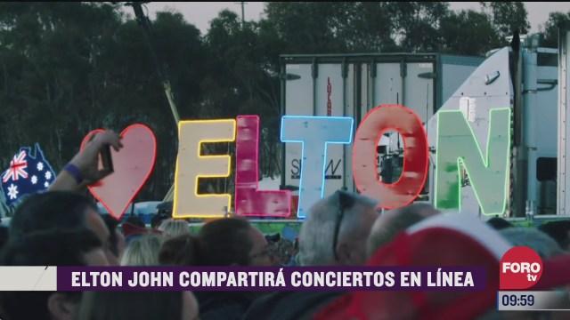 espectaculosenexpreso elton john compartira conciertos en linea