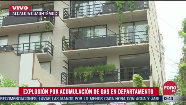 explosion en departamento por acumulacion de gas en colonia roma norte