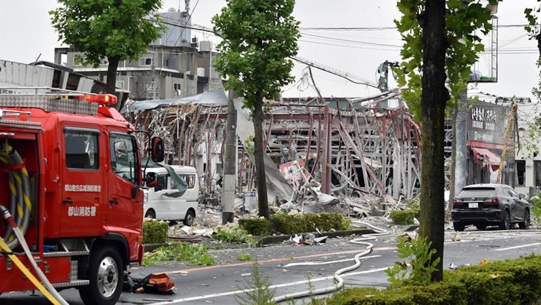 Explosión en Japón por una fuga de gas deja al menos un muerto y 17 heridos
