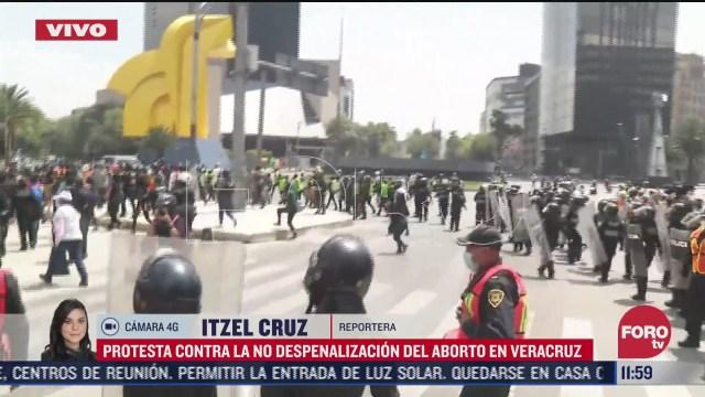 feministas marchan al zocalo de la cdmx se registran enfrentamientos