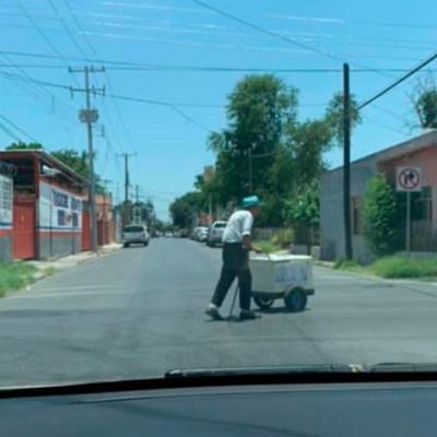 Fotos: En redes sociales piden ayuda para abuelito que vende paletas en Tamaulipas