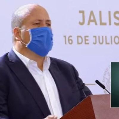 El gobernador de Jalisco, Enrique Alfaro en conferencia matutina