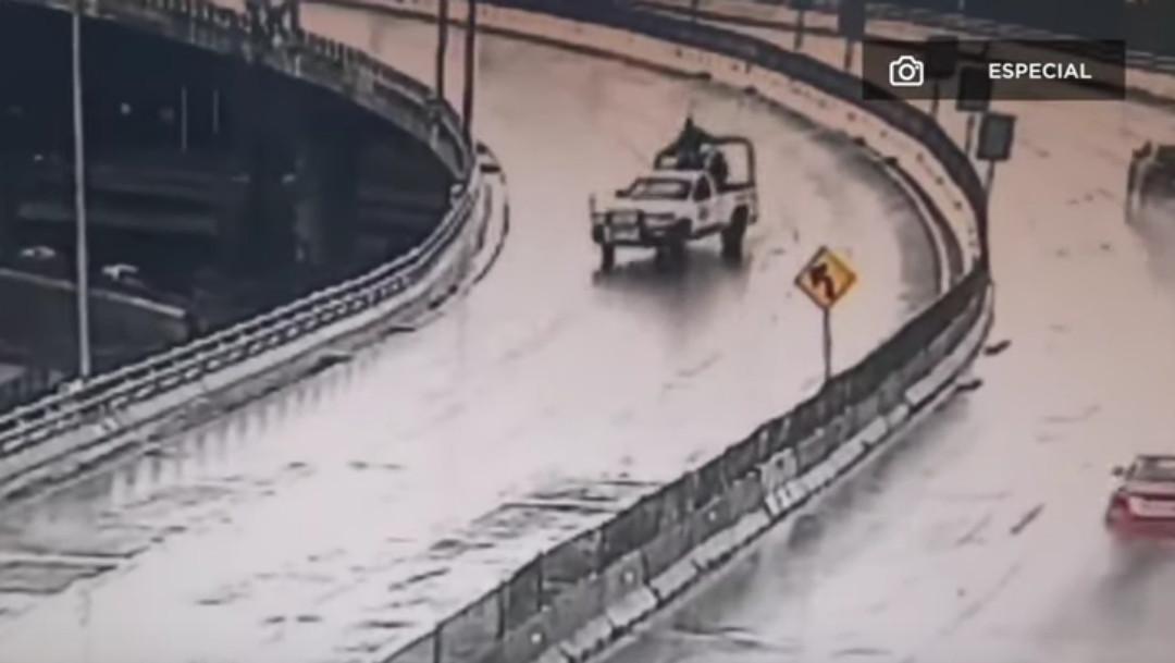 Camioneta de Guardia Nacional, captura de pantalla
