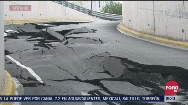 'Hanna' destruye asfalto en calles de Cadereyta