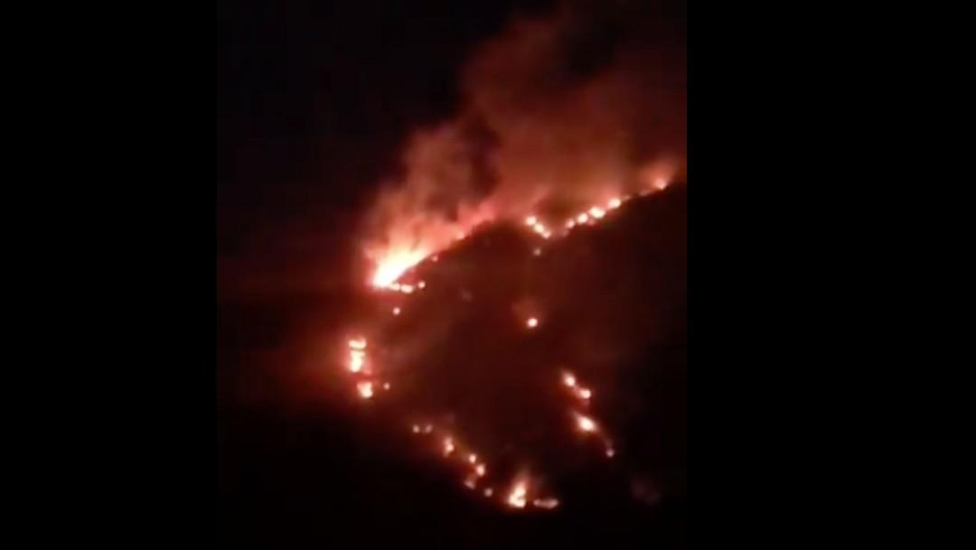 Se pierden, prenden una fogata y provocan un incendio forestal en Bustamante, Nuevo León
