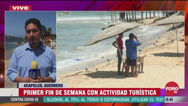 FOTO: 4 de julio 2020, instalan modulos de sanitizacion en playas de acapulco